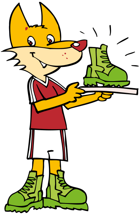 Freddie Fox holding a green boot trophy